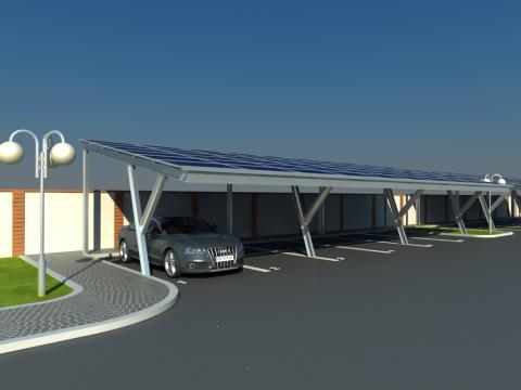 Photovoltaic parking lots